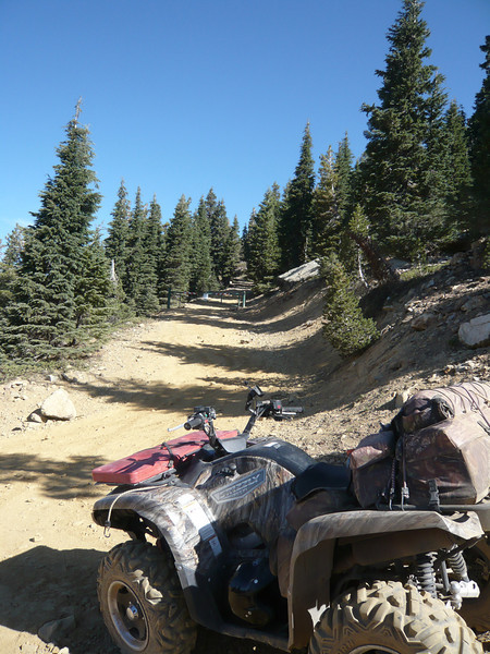 I parked my Yamaha Grizzly 700 down below the gate and started my hike.