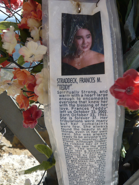 The memorial. May God rest her soul.