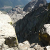 Another view of the precipice that began about 5 feet behind where I was standing in the photo of me under the antenna.