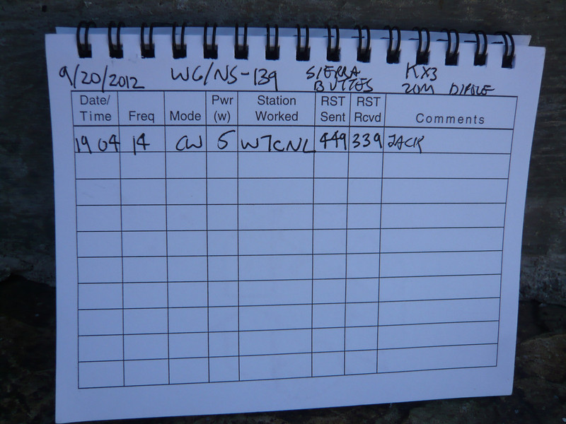 Logbook page 2. I made a total of 12 QSOs on 20m CW. Thanks to everyone who worked me!