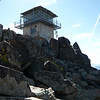 The old lookout tower as seen from the top of the main set of stairs. Sorry about the finger in the shot.