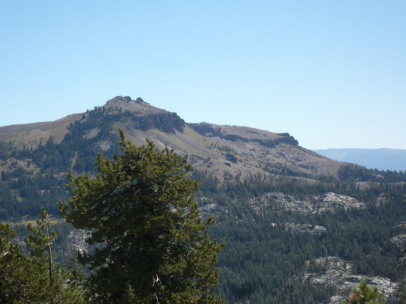 A closer shot of Castle Peak (W6/SN-038). The Pacific Crest Trail runs past and below it on the other side.