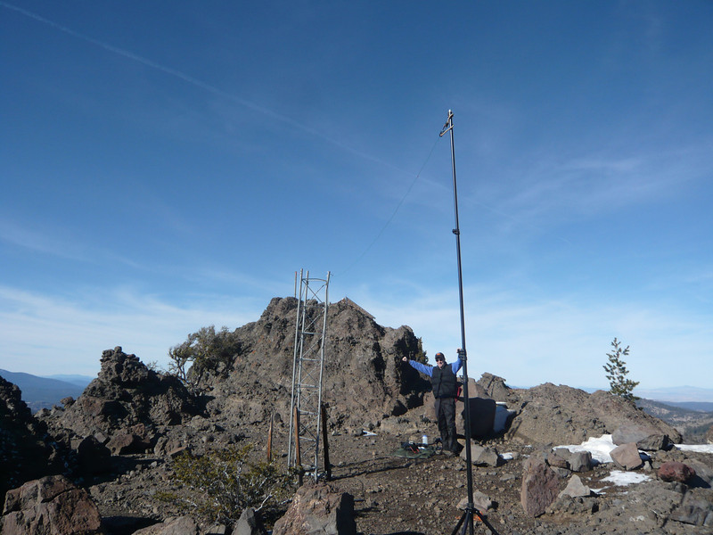 Victory! Another successful summit activation. Time to pack up and get down off the mountain.