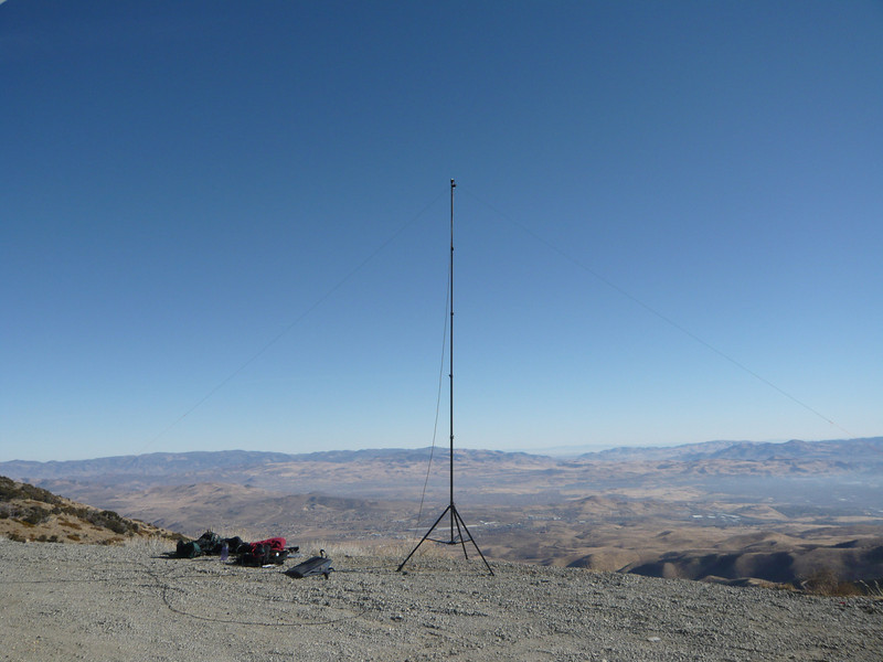 My antenna and operating position, looking northeast.