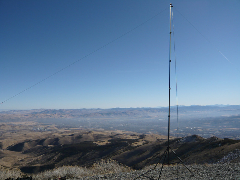 My antenna with Reno in the background.