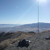 My antenna and operating position looking south toward the Mt Rose Wilderness Area, way over across the valley near the skyline.