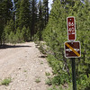 Closeup of the Tahoe National Forest road 86-40 sign.