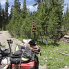 There is a small sign next to the 86-40 road at the turnoff. The coordinates of this point are 39.45263N, 120.44102W. Take it easy going up this road as there are some wicked water bars in place.