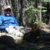 Although the wind was cranking up above, it was barely blowing down on the forest floor. I was comfortable sitting in my Crazy Creek Hex 2.0 chair.