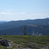 """Schallenberger Ridge (with the bald summit) as seen from <a href=""""http://www.grizzlyguy.com/HamRadio/SOTA-Activation-862012-Donner"""">Donner Ridge (W6/NS-181)</a>. Recent land acquisitions by Donner Memorial State Park have placed the summit within the park. The route I hiked up meanders through land owned by Tahoe National Forest and the state park."""