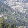Snow sheds on the railroad tracks that wind down from Donner Summit.
