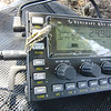 While I was operating a grasshopper climbed up onto my KX3 to check out my frequency, SWR and power output. Apparently satisfied, he hung around for quite a while. It didn't bother him at all when I'd reach over and press the MSG button below him to send out yet another CQ SOTA.
