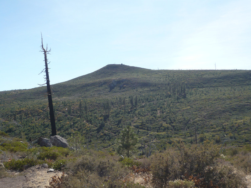 Pt. 7282 as seen from the northeast. The bump just to the right of the summit is a giant 16 foot high boulder.