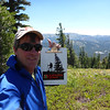 Standing near my operating position on Webber Peak with a nifty Northern Sierra clipboard.