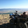 My Yamaha Grizzly 700 SOTA steed at the top of (end of) 12M29. This is the DIAMOND_458 point on my maps and is at 40.31118N, 120.67452W. From here it is a cross-country hike (no trail) of 1.16 miles to the summit as per my GPS track log, with an elevation gain of around 460 feet per the USGS topo map.