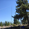 I set up about 15 feet from the actual summit near a pine tree that gave me some shade. I again used my 88' doublet in inverted-V configuration with the center supported by my 28' Jackite pole, with the wires running N-S.