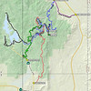 To get to the trailhead, I rode my ATV from near Chilcoot along the route shown in red that is suitable only for ATVs and dirt bikes. The trail begins on Plumas National Forest road 24N88 where it intersects the paved Frenchman Lake Road at the P24N88FRNCH point (39.81516N, 120.13821W). It is a fun, tight trail with a lot of twists and turns.