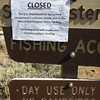 I spotted this down at Frenchman Lake, where I unloaded my ATV. Before the government shutdown caused the Forest Service to run out of funds, this must have been one heck of a campground: DAY USE ONLY and NO CAMPFIRES!