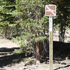 The sign for Tahoe National Forest road 860-33-30.
