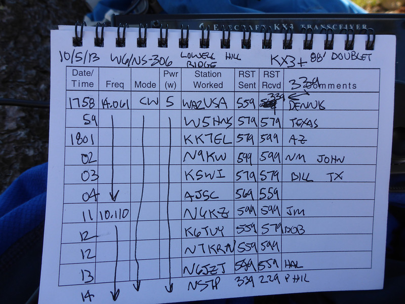 Logbook page 2.