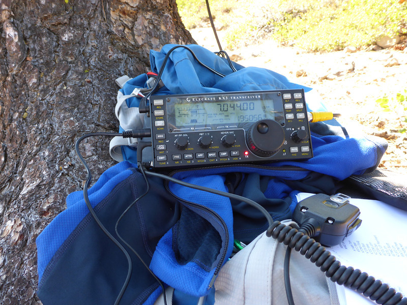 CQ CQ SOTA DE KU6J KU6J K. I love that the KX3 has a memory keyer, it gives me time for housekeeping chores while my CQs are going out.