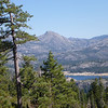 Our mini Half Dome, Old Man Mountain W6/NS-184, to the east-northeast. That's Lake Spaulding down below.