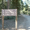 The sign at my P23N3708 point. The arrow pointing to Plumas Pines is for the 23N37 road that we rode up on. Continue on 23N08 towards Johnsville and Eureka Ridge.