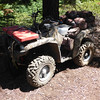 My SOTA steed (Yamaha 700 4x4 ATV) parked, pack is off the rack and on my back, and I'm ready to hike up to the summit.