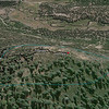 A different angle from Google Earth, looking SSE. Down below the mountain is the paved TNF road 07, Perazzo Meadows and the Little Truckee River, and Henness Pass Road on the other side of the meadow.
