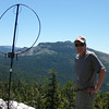 "Standing at my new operating location with <a href=""http://www.grizzlyguy.com/HamRadio/SOTA-EnglishMtn-W6NS151-2013"">English Mountain W6/NS-151</a> in the background to the southeast."