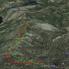 Google Earth view of my hike, looking west.