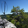 """Looking east-northeast, with the Alexloop pointing east. The only thing """"blocking"""" my shot to the east is the top of that pine tree, and the cliff edge is just a few feet in front of the Alexloop. It doesn't get much better than this. :-)"""