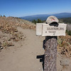 The sign on the other side of the post, looking back down the Coldstream Trail.