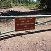 If you decide to take my route, be sure to schedule your climb for August, September or October. This gate on the OHV route is closed during the other months. I'd wait until at least September to give the off-roaders a chance to come through and saw out the inevitable deadfall. Either that or bring a chainsaw.