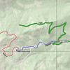 I unloaded my ATV at the HWY89FS08 point (39.23626N, 120.20701W) on Highway 89 between Truckee and the Squaw Valley ski resort, at the beginning of Tahoe National Forest road 08 that is shown in green. This road is also known as Pole Creek Road and is an easy graveled road that any vehicle should be able to handle if it is dry. At F08F16E84 (39.23769N, 120.23258W) I turned left onto a rougher 2WD road (shown in blue) that leads past the Sierra Club's Bradley Hut. Just a few hundred feet beyond the hut, the road turns into an OHV route (shown in red) which is open to ATVs, motorcycles and 4x4 vehicles. It is rough with some steep spots, but a blast to ride on an ATV. Unless you have a very rugged 4x4 vehicle such as a lifted Jeep or 4x4 ATV, do not attempt it.