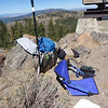 My operating spot on the summit ridge near the lookout tower.