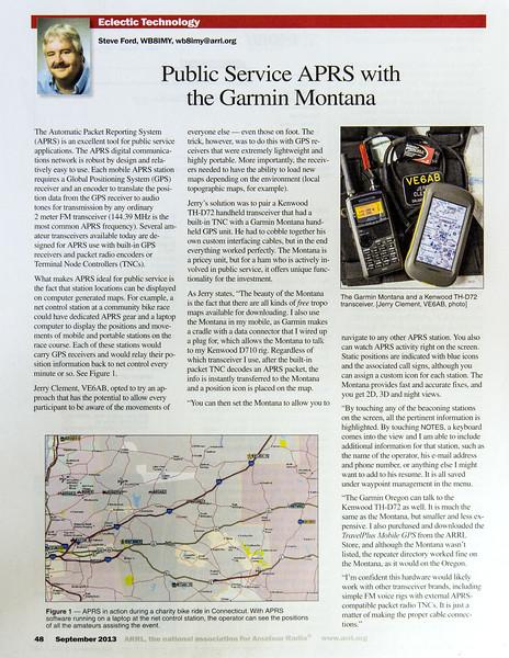 APRS with the Garmin Montana