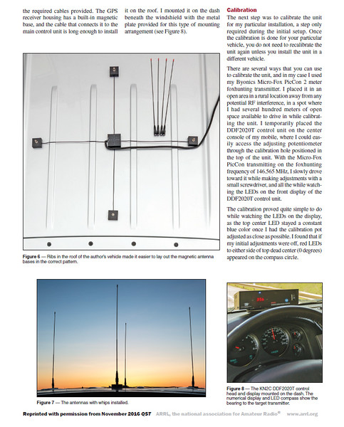 KN2C DDF2020T Radio Direction Finder - November 2016 QST - Page 2