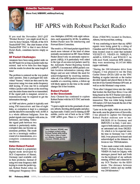 Eclectic Technology and Robust Packet Radio