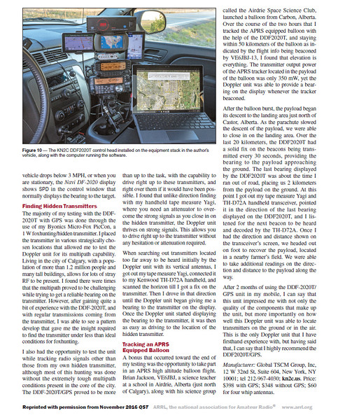 KN2C DDF2020T Radio Direction Finder - November 2016 QST - Page 4