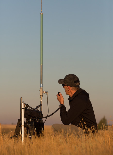 Operating from the Grasslands at Sunrise