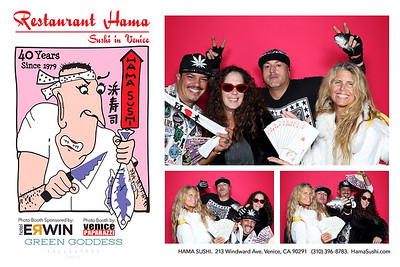Hama Sushi.  Photo booth by @VenicePaparazzi