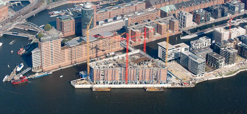 Luftbild Baustelle Elbphilharmonie Hamburg HafenCity