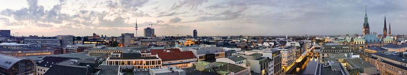 Panorama Hamburg Innenstadt vom Dach Großer Burstah