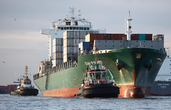 Mit 2 Schleppern auf der Elbe in Hamburg