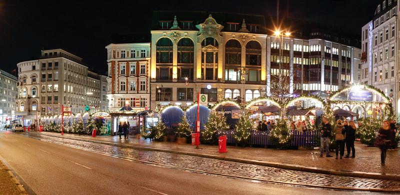 Weihnachtsmarkt auf dem Gänsemarkt Hamburg