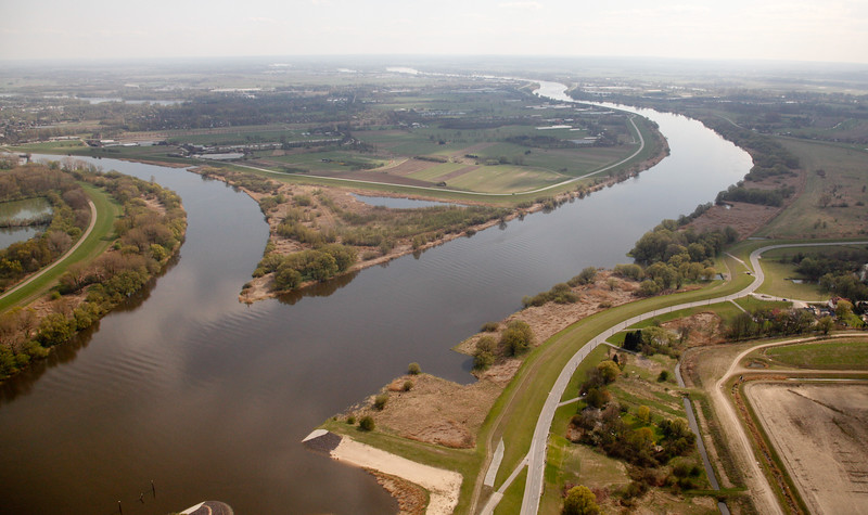 Luftbild Elbe bei Hamburg Norderelbe