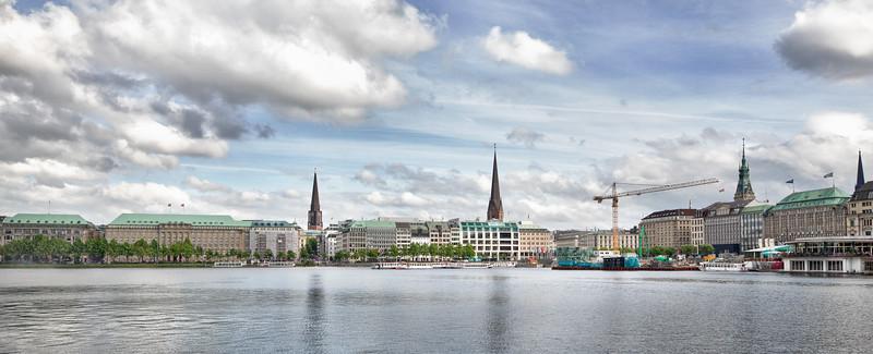 Panorama Binnenalster am Abend Hamburg