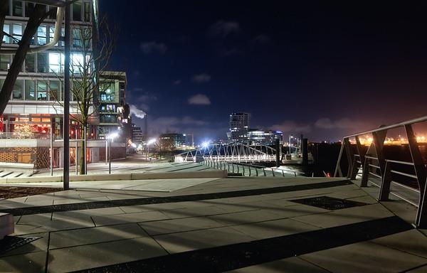 HafenCity Hamburg bei Nacht