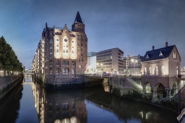 Speicherstadt Hamburg am Abend